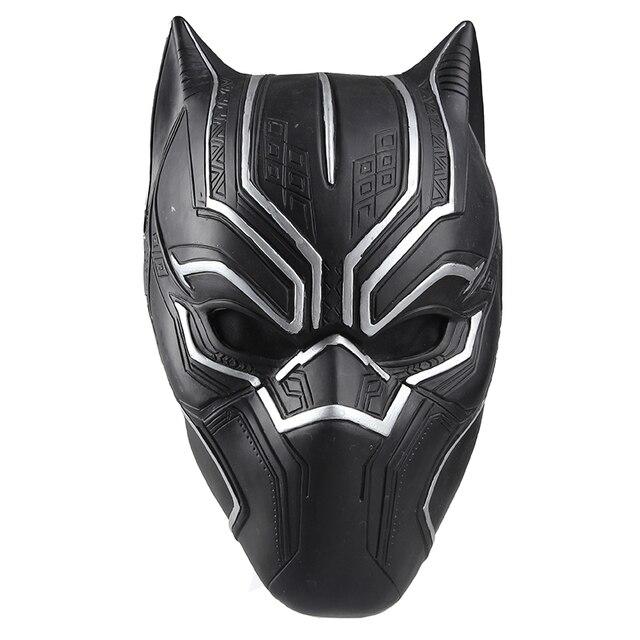 Captain america guerre civile noir panth re cosplay casque noir panth re masque de haute qualit - Masque de captain america ...