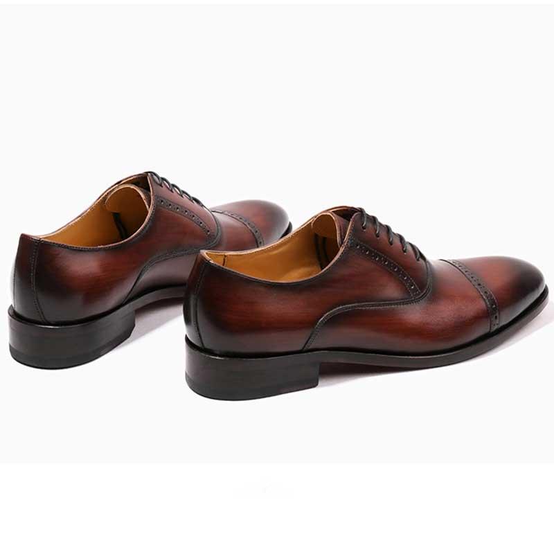 Mens Genuíno Grimentin Brown Oxfords Formal Personalizado Handmade Sapatos red Qualidade Alta brown De Masculino Negócio Black Do Sexo Couro Ywxx5rU