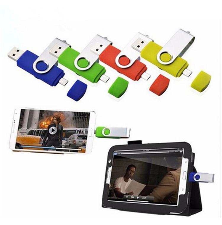 האופנה Capacidade סך OTG USB כונן הבזק כונן 64 GB 32 GB 8 GB 16 GB dupla חיצוני לעשות את הטלפון החכם מקל USB pendrive