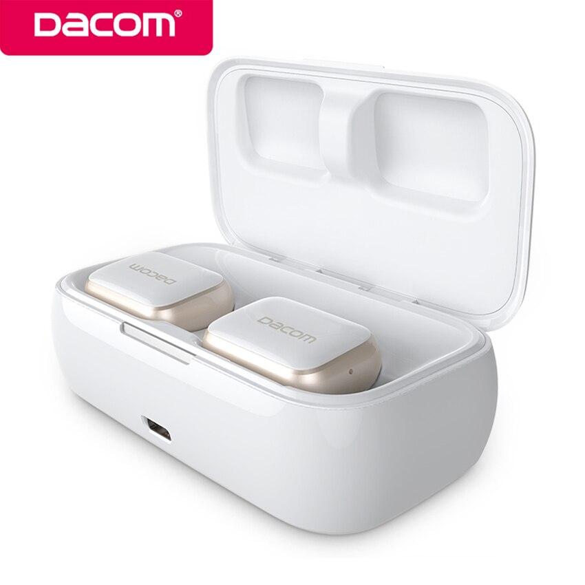 Dacom GF8 vrais jumeaux Bluetooth casque Mini Sport sans fil TWS écouteurs antibruit mains libres avec micro pour téléphone