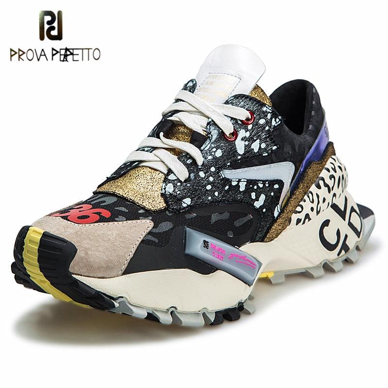 Prova Perfetto 2019 Sneakers Mulheres Trendy Chunky Pai Sapatos Mulher Moda sapatos de Sola Grossa Plataforma Senhoras Atacadores de sapatos zapatillas mujer
