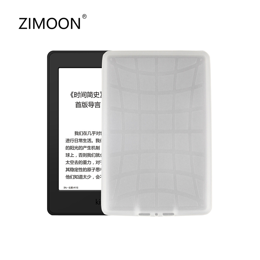 ZIMOON Case For Kindle Paperwhite 1 2 3 TPU Transparent Back Spider Web Pattern Cover For Paperwhite 6' E-book Tablet Smart Case kindle paperwhite 1 2 3 case e book cover tpu rear shell pu leather smart case for amazon kindle paperwhite 3 cover 6 stylus