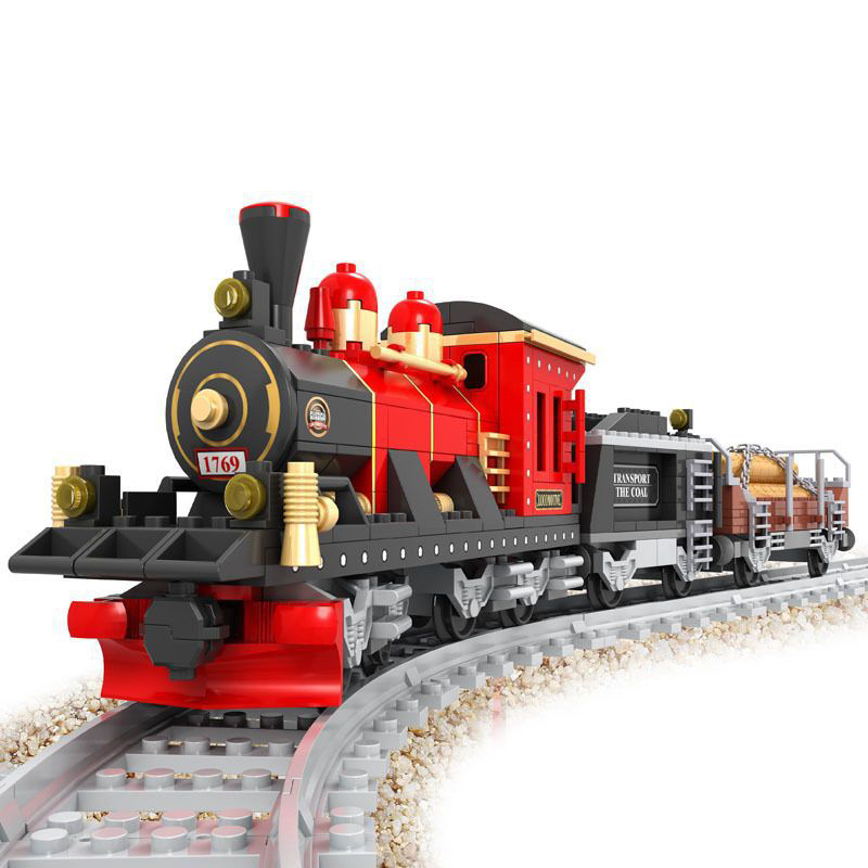25705 410pcs Train Railway Engine Constructor Model Kit Blocks Compatible LEGO Bricks Toys For Boys Girls Children Modeling