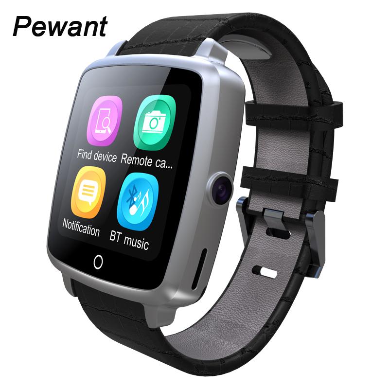 Prix pour Bracelet en cuir Bluetooth Smart Watch Avec La Russie Support Micro Carte SIM Caméra Pour Apple IOS Android Sony 3 Téléphone Smartwatch