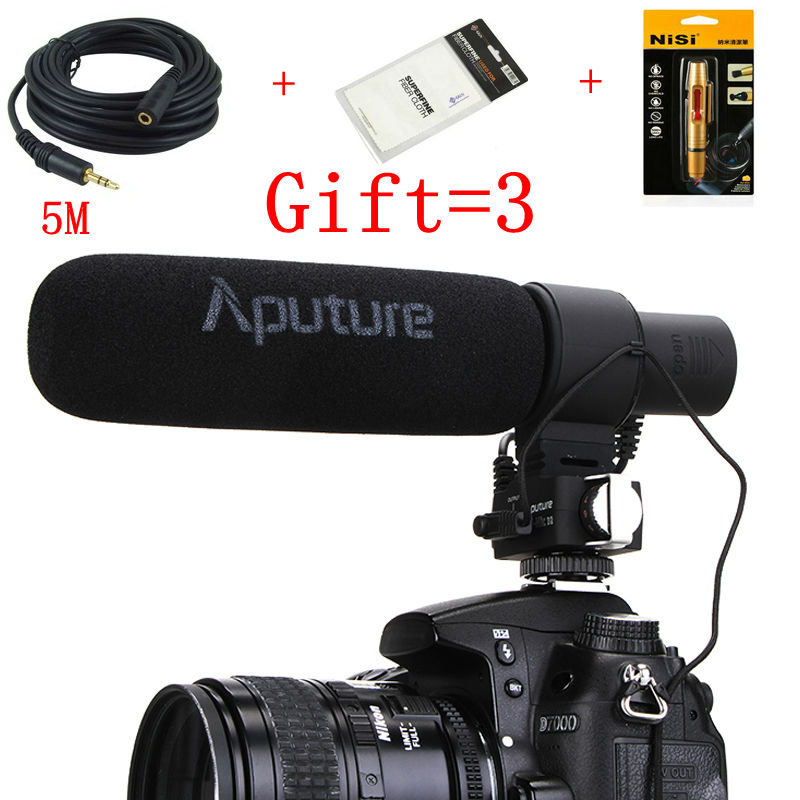 Directional Condenser Microphone Aputure V Mic D2 Shotgun Camera Microphone with PEAK and Low Cut Function V MIC D2