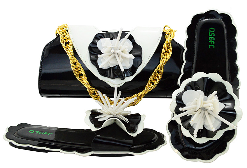 New Arrival Italian Shoes Combining with Black Color Bags High Quality Bag and Shoes Set Nigerian Italy Shoes MM1053 1 piece distribution instrument case housing high quality black and white color 69x149x140 mm surface with vents