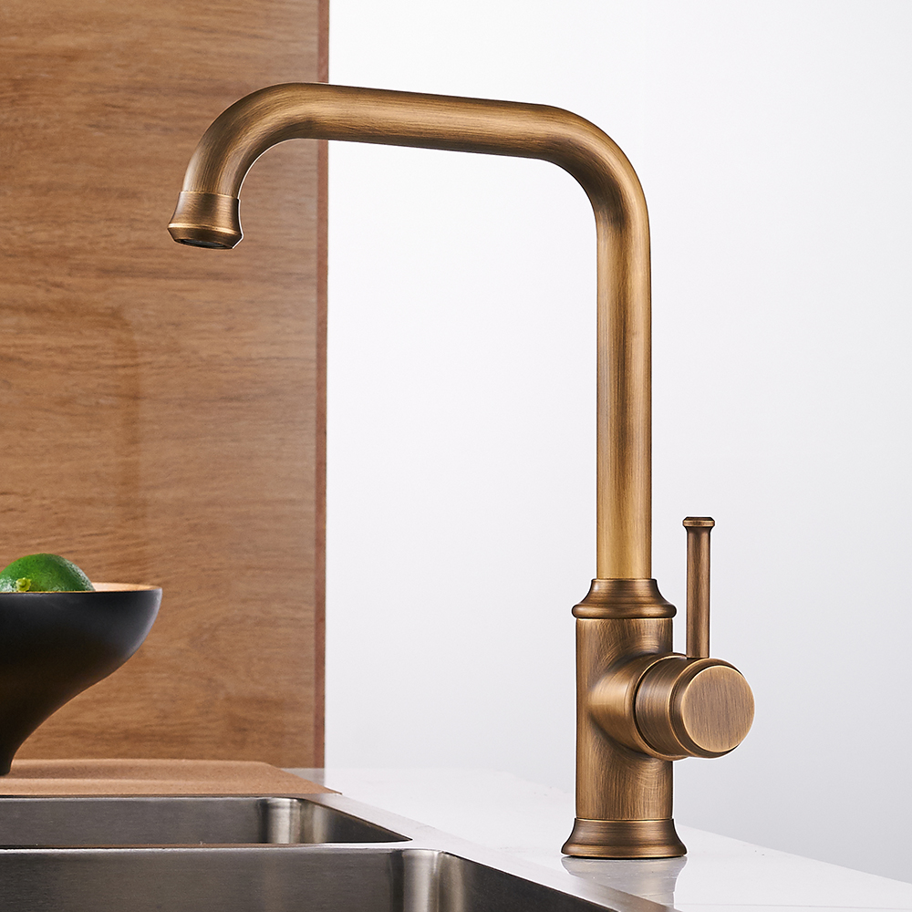 Kitchen Faucets Black Color Brass Crane Kitchen Faucets Hot and Cold ...
