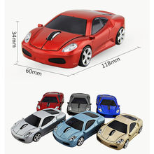 2.4GHz Wireless 3D 1600DPI Optical USB Car Mouse Mice LED Light Ergonomic Mini Gaming Mouse For Tablet PC Laptop Computer New