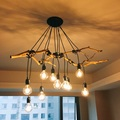 Retro luzes pingente de Aranha Decorativo Clássico Sótão Edison Luz Pingente luzes de suspensão da lâmpada E27 220 v para a decoração home