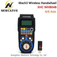XHC CNC Handwheel Wireless Mach3 MPG Pendant For Milling Machine 4 6 Axis WHB04B-4 WHB04B-6 NEACARVE