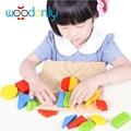 Montessori Intellectual Geometry Toy Early Educational Building Block wooden Shape Interesting Kids Toys oyuncak