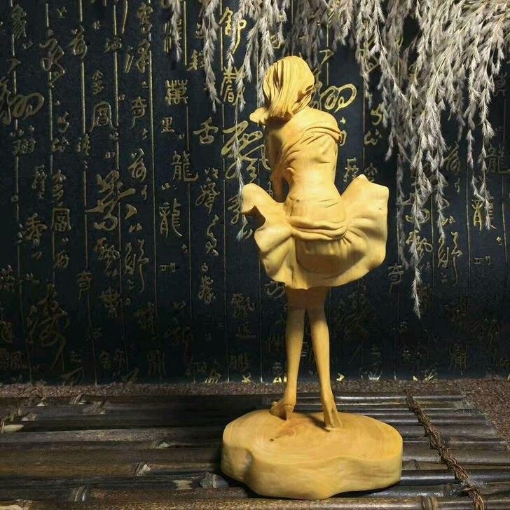 Boxwood красота украшения Искусство и ремесла домашнего интерьера Коллекционирование резьба по дереву Рождественский подарок - 4