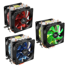 S SKYEE 92mmX92mmX25mm CPU Cooler Fan 12V Quiet LED Light 3Pin Powerful Fan  For Intel LGA 1150 / LGA 1151/ LGA 1155 And AMD 3+ 4 heatpipe cpu cooler heat sink for intel lga 1150 1151 1155 775 1156 new