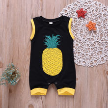 Baby Boys Girls Clothes Cotton Casual Summer Baby Outfits Sleeveless Romper Pineapple Print Jumpsuit Toddler Childeren Clothes(China)