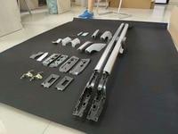 랜드 크루저 200 lc200 용 알루미늄 합금 소재 슬리버 및 블랙 컬러 루프 랙 판매