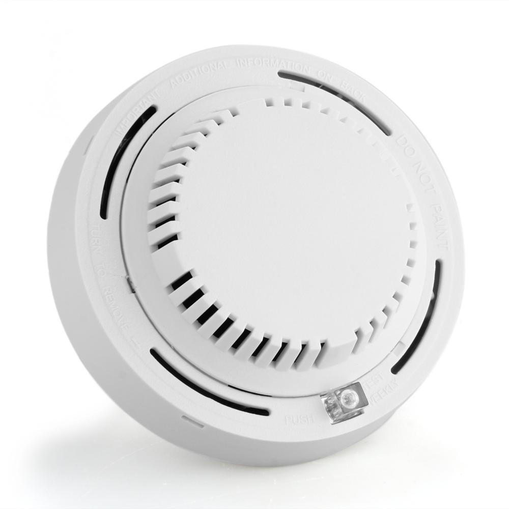 Wired Smoke Detector Smoke Sensor Alarm System for Home Indoor Security with LED Indicator DC 12v High Quality