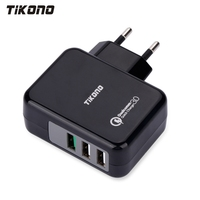 Tikono USB Charger Qualcomm Quick Charge 3 0 Fast Charger For Samsung LG Xiaomi 3 Ports