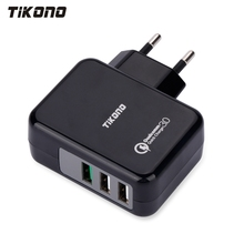 Tikono USB Charger Qualcomm Quick Charge 3.0 Fast Charger For Samsung LG Xiaomi 3 Ports Wall Charger Universal Travel Charger