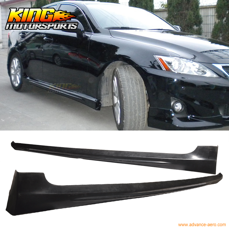 For 2006-2013 Lexus IS250 IS350 Poly Urethane Side Skirt Add-On Kit цена