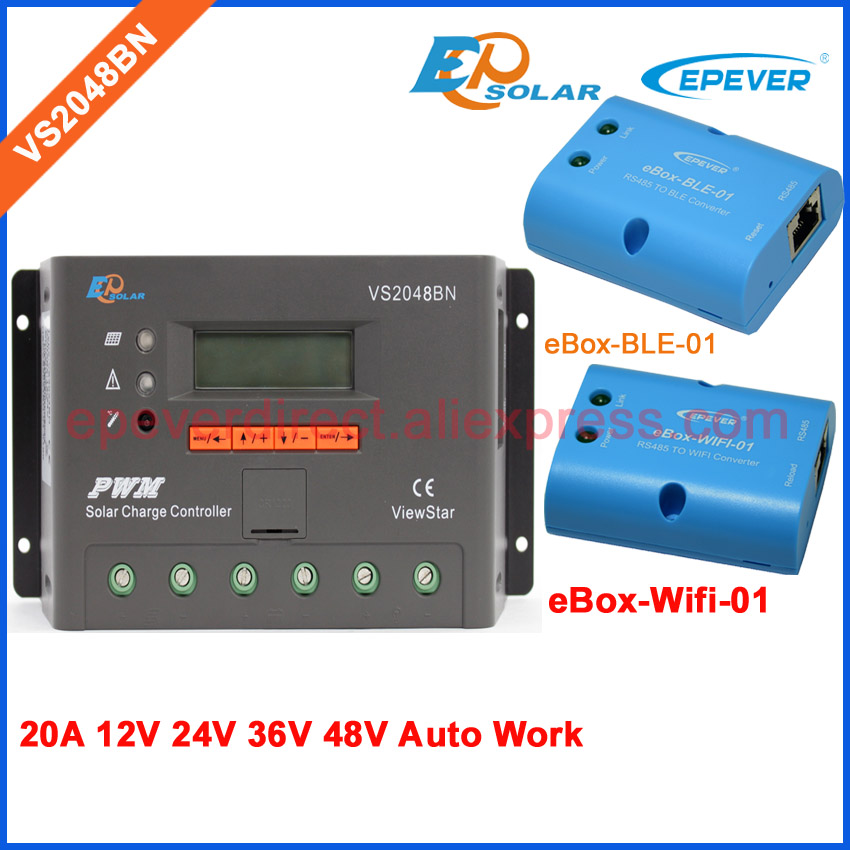 48V VS2048BN controller for solar panels Battery charger regulator bluetooth and wifi BOX PWM EPEVER 20A 20amp 36V 24V48V VS2048BN controller for solar panels Battery charger regulator bluetooth and wifi BOX PWM EPEVER 20A 20amp 36V 24V