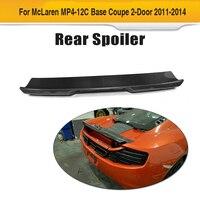 Carbon Fiber Rear Trunk Boot Hoạt Động Spoiler Wing cho McLaren MP4-12C Cơ Sở Coupe 2 Cửa 2011 2012 2013 2014 Thiết Kế Xe