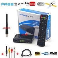 Trasporto sat Mini Formato V7 HD 1080 P Ricevitore Digitale Satellitare TV Tuner 1 PZ USB WiFi DVB-S2 Decoder Alimentazione Biss Cccam Newcam youtube