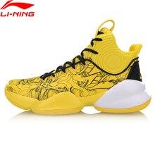 Li Ning Men V Professional รองเท้าบาสเก็ตบอลสวมใส่ซับ Cloud Cushion Comfort กีฬารองเท้ารองเท้าผ้าใบ ABAP025 SJFM19