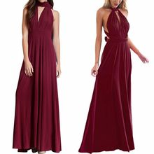 Fashion Multi Way Dess for Bridesmaid Women High Waist Long Summer Dress Elegant Convertible Party and Wedding