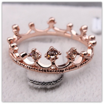 Princess Crown Ring Trendy Jewelry Gold Wedding Engagement Ring For Women 1