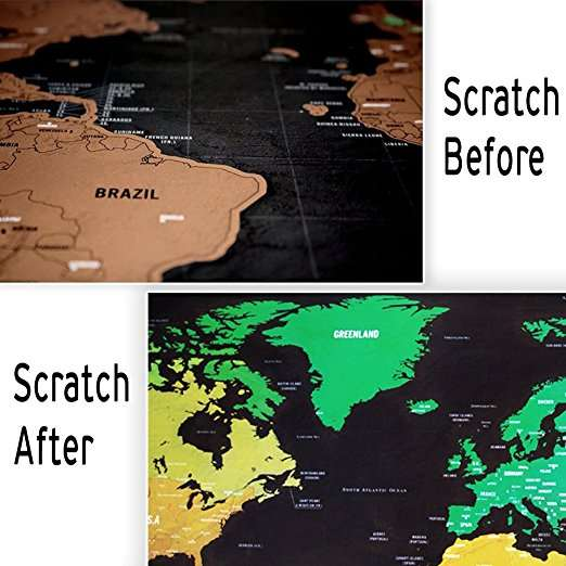 Online Shop New 1 Piece Black Deluxe Travel Map Travel Tracker