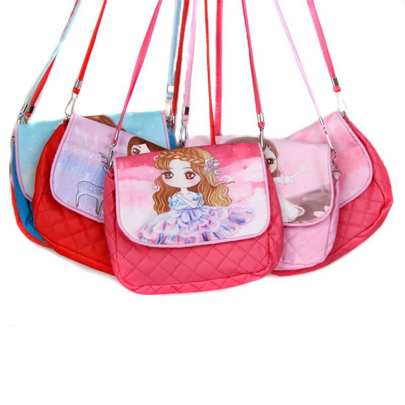 New Baby Girls Fashion Single Shoulder PU Kids Crossbody Messenger Bag Cartoon Kitty Children Handbag Casual Travel Bags