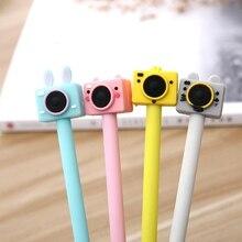 Корейская креативная Милая камера гелевые чернильные ручки школьные Kawai канцелярские забавные офисные аксессуары