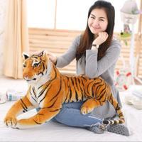 Simulation Tiger Puppe Sibirischer Tiger Auto Heimtextilien Stofftier Plüsch Spielzeug Für Kinder Baby/50 cm
