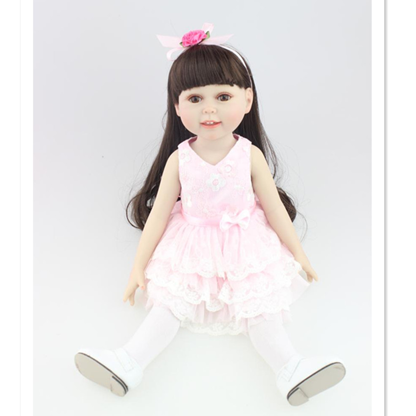 Girls Doll Vivid Princess Doll with Clothes,18 Inch Vinyl Dolls Toys for Children's New Year Gift 9 inch girl doll princess doll with clothes vivid vinyl doll toys for children christmas present
