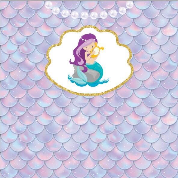 8x8ft Pearl Light Color Baby Mermaid Scales Gold Frame Princess Custom Photo Studio Background Backdrop Vinyl 240cm X 240cm Background Aliexpress