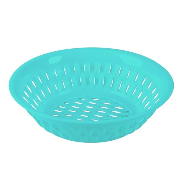 Round Food Fruit Storage Tray Basket Cute Plastic Serving Decorative ...