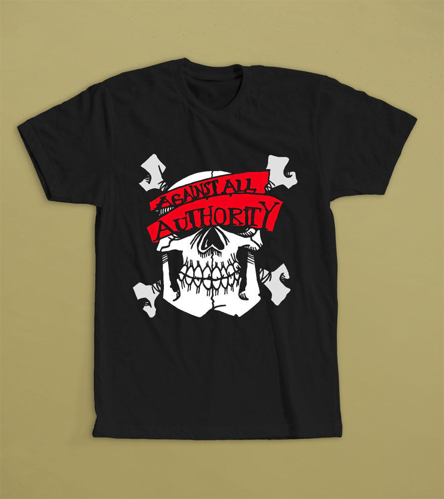 Against All Authority T-SHIRT S M L XL 2XL American SKA punk band Common Rider