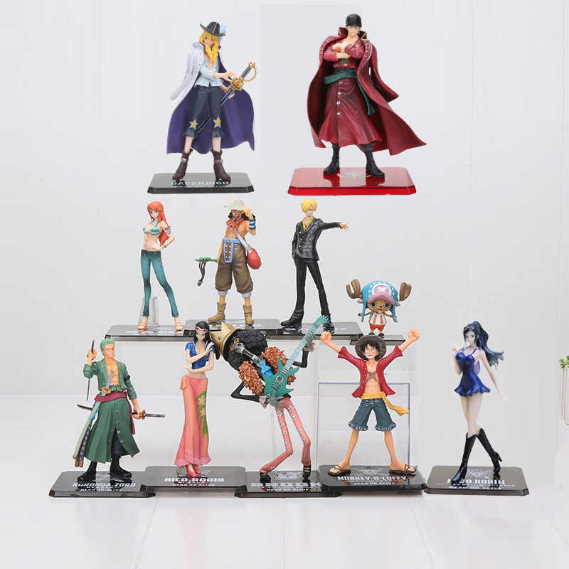 One Piece Dead or Alive Nico nami luffy usopp sanji zoro chopper Cavendish Lei beckman 2 Toy Action Figure PVC anos mais tarde