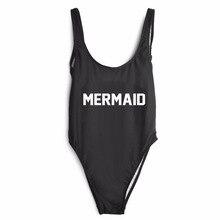 2017 MERMAID One Piece Suit Black Bodysuit Women Bathing Suit Plus Size Bikinis Swimsuit Sports Swimwear Beachwear Monokini Swim