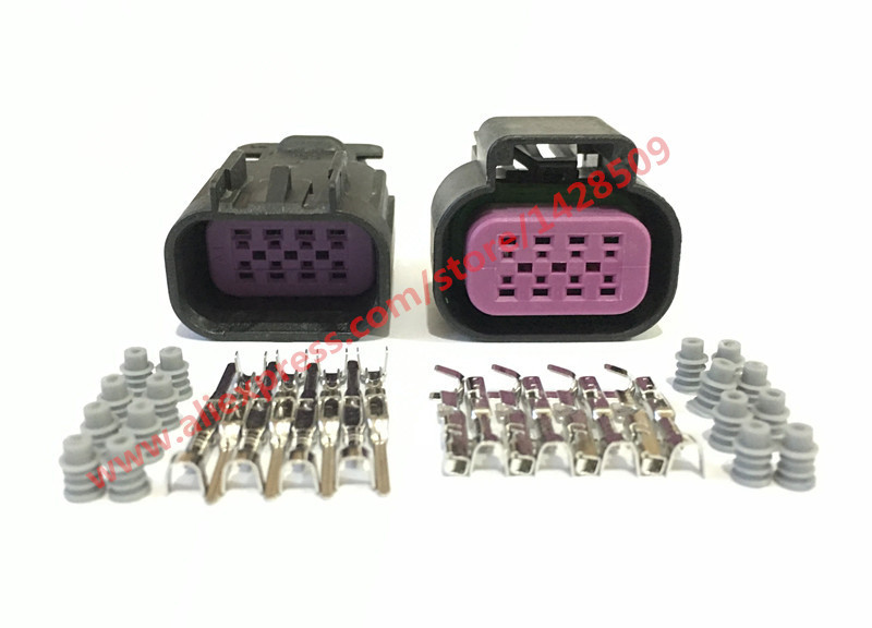 1 Sets Delphi Gt Series 8 Pin 15326835 / 15326839 Female Male Automotive Connector For Bmw Citroen Chevrolet Hyundai Hummer H3