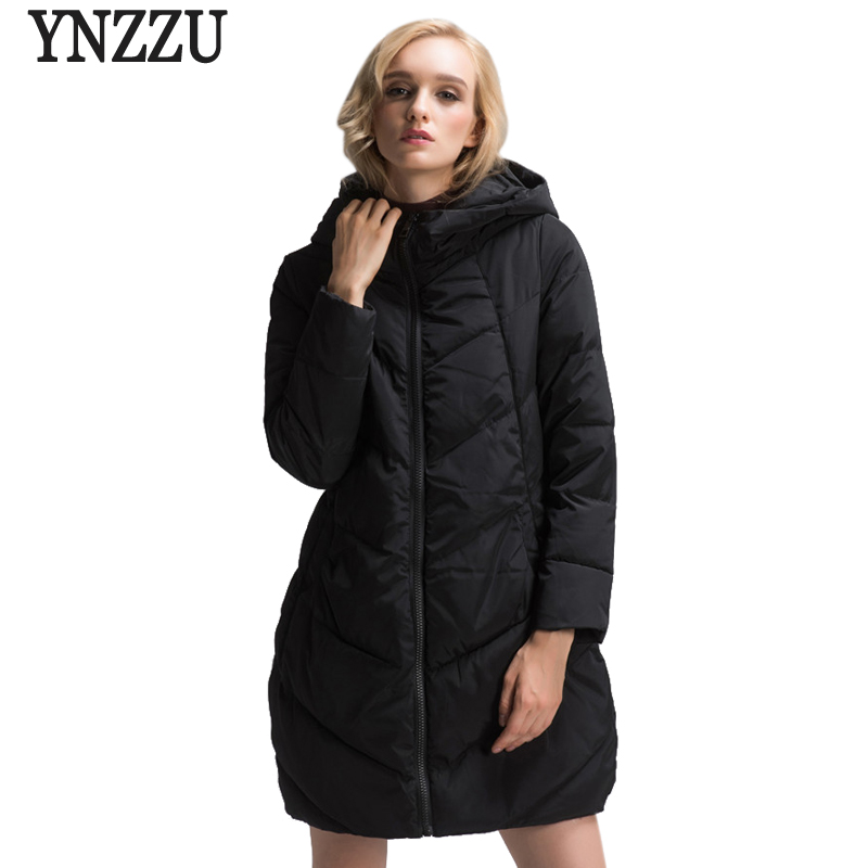 YNZZU Plus Size New Women Winter Jacket Mid-Long Warm Thick Hooded Parka Womens Down Jackets Overcoat High Quality 5XL 6XL 7XL стоимость