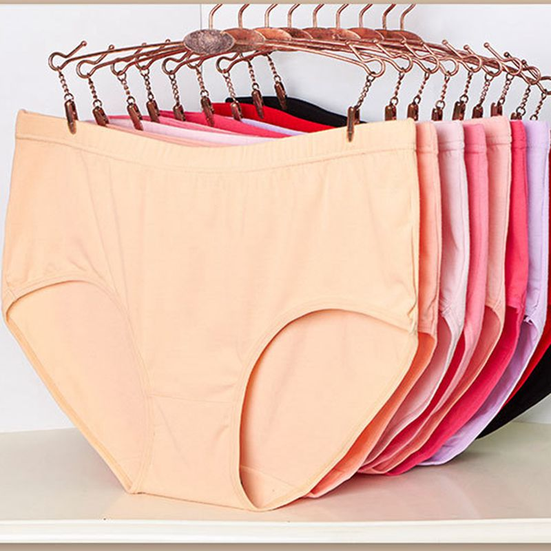 10Pcs/lot Ropa Interior Femenina Comfortable Sweat Absorption Cotton Underwears Women Panties Plus Size 7XL Lingerie  Brief