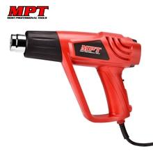 MPT EU plug 220V Heat Gun 2000W Variable 2 Temperatures Advanced Electric Hot Air Gun with five Nozzle Attachments Power Tool electric 2000w dual temperature 400 600 heat gun hot air gun power tools with 4 accesories
