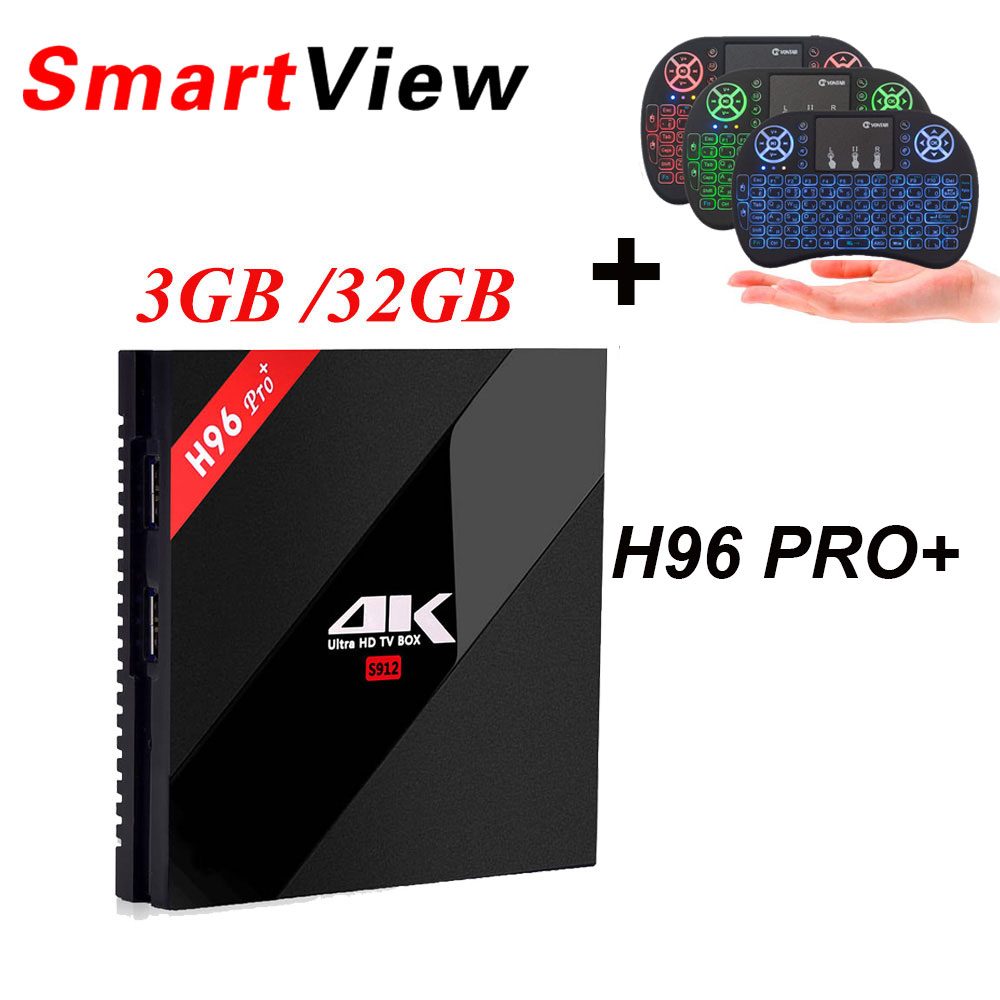 H96 Pro + Android 7.1 Smart TV Box 3 GB/32 GB 2 GB/16 GB Amlogic S912 2.4G/5.8G WiFi lettore Multimediale H.265 BT4.1 KD16.1 4 K H96 Pro Plus