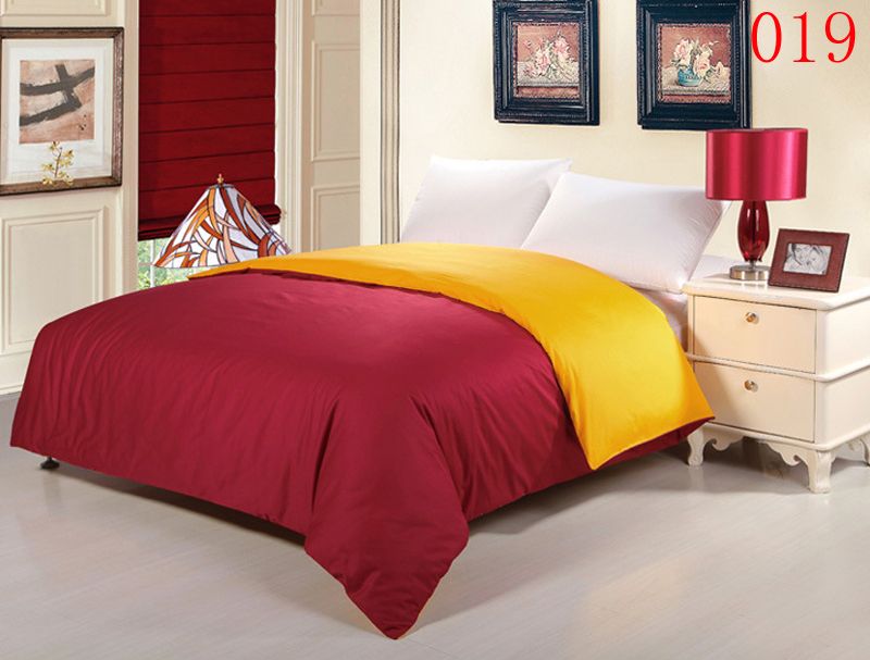 Wine Red Yellow Bedroom Home 1PcsCotton Duvet Cover