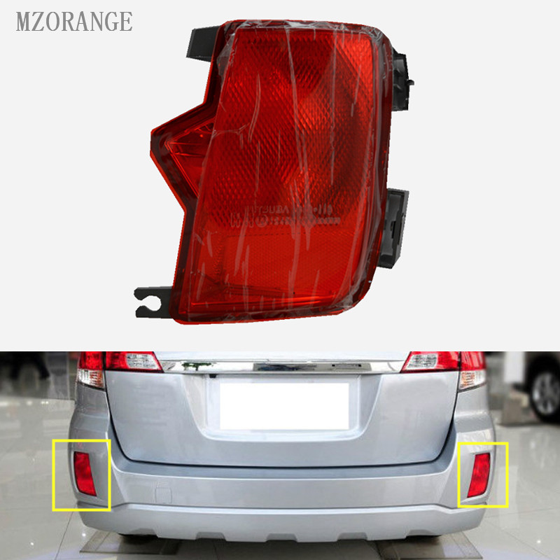 MZORANGE Car rear tail bumper reflector lamp fog light Clearance Lights For Subaru Outback 2009 2010 2011 2012 2013 2014 led tail lights for subaru for outback red white color 2010 2013 year for bmw style lf