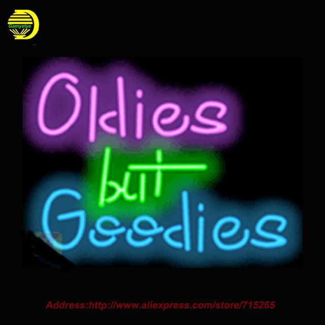 US $395 8 |2017 Hot Neon Sign Oldies but Goodies Glass Tube One Neon Signs  Handcrafted Free Custom Recreation Room Iconic Sign 24x18-in Neon Bulbs &