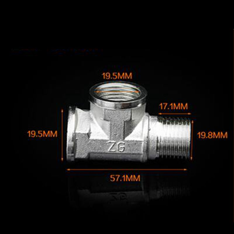 Tee Type 3 Way 201 Stainless Steel Tube Pipe Fitting Connector 1 2 Female to 1