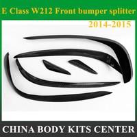 Mercedes W212 передний бампер губы Splitter углеродного Волокно Canard спойлер для Benz E класса W212 2014 2015 Спорт издание E200