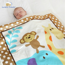 Luvable Friends Fleece Warm Baby Blankets Newbron Super Soft Bedding Swaddle Blanket aden anais Baby Product Free shipping